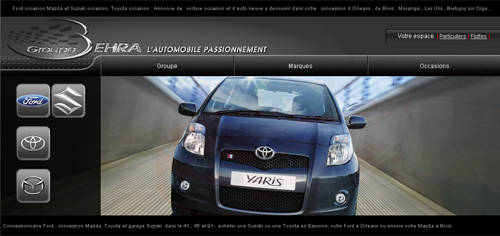 Photo du site internet du concessionnaire Ford Behra