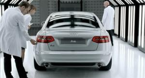 Photo de la nouvelle Audi A6 extraite du spot publicitaire