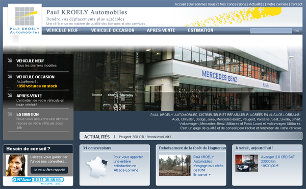 Photo du site du concessionnaire auto Kroely