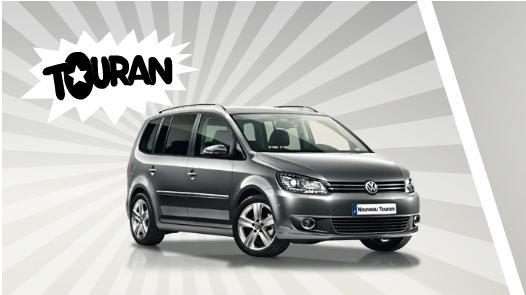 Photo du Volkswagen Touran a gagner dans le jeu concours héros d'aujourd'hui