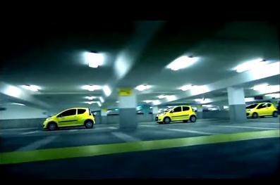 Photo des 3 citroen C1 dans le vidéo de Dunlop