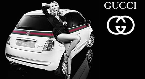 une fiat 500 aux couleurs de la marque de luxe gucci pour la salon automobile de gen ve actu auto. Black Bedroom Furniture Sets. Home Design Ideas