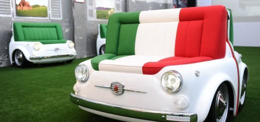 Fiat a lancé une série de produits mobilier autour de la Fiat 500