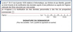 photo certificat immatriculation vehicule protection informations personnelles