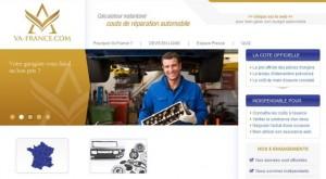 aperçu site va france devis cout reparation voiture sur internet