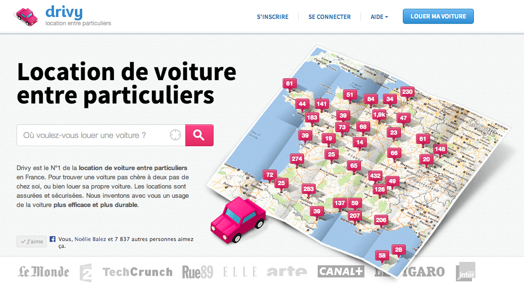 infographie sur site de location de voiture entre particuliers. Black Bedroom Furniture Sets. Home Design Ideas