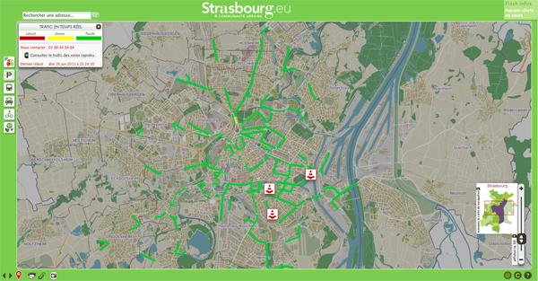 Condicitions circutation Strasbourg temps réel