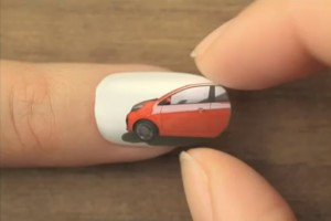 publicitié kia picanto ongles