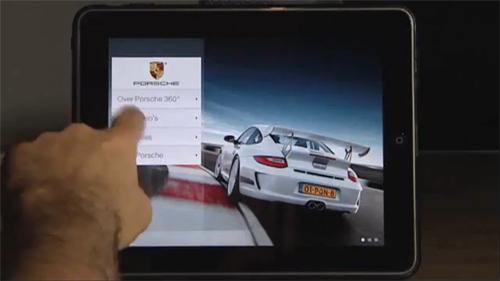 application iphone ipad porsche