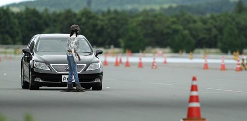 nouvelle technologie toyota anti collision piéton
