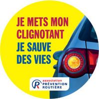 Campagne prévention routière oubli Clignotant