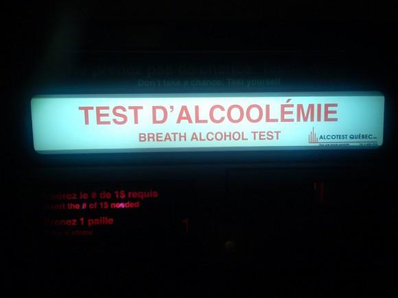 test alcoolemie