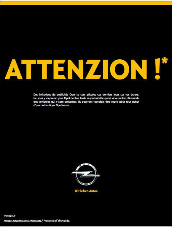 pub opel renault reponse attenzion