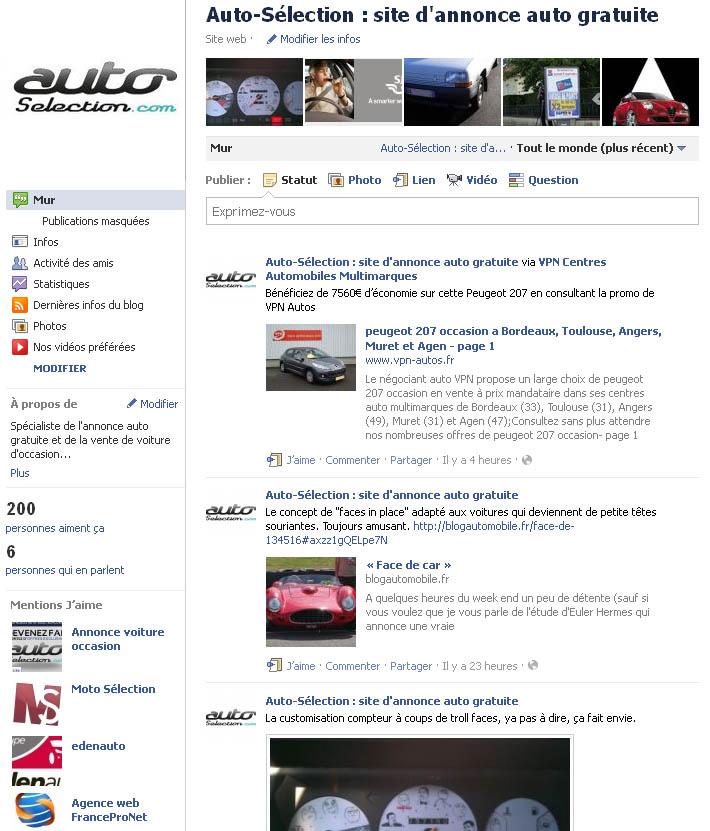 facebook auto-selection