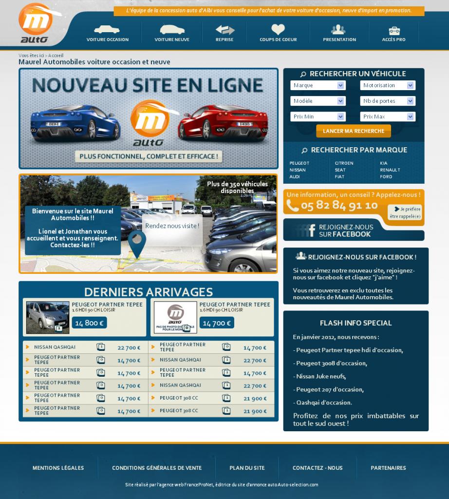 blog auto zoom sur maurel automobiles un nouveau site web pour la marchand albigeois actu auto. Black Bedroom Furniture Sets. Home Design Ideas