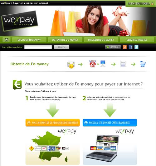wexpay paiement liquide sur internet