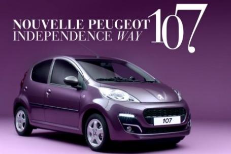 Pub pour la Peugeot 107 - 2012