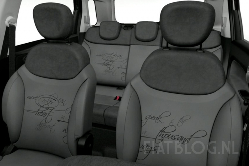 nouvelle fiat 500 l photos de l 39 interieur d voil es. Black Bedroom Furniture Sets. Home Design Ideas