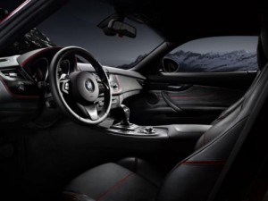 BMW Z4 Zagato interieur noir et rouge