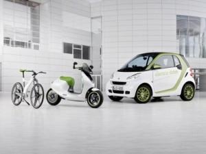 Smart, escooter et vélo smart, la famille est au complet