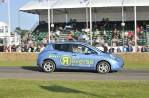 Nissan Leaf record marche arrière