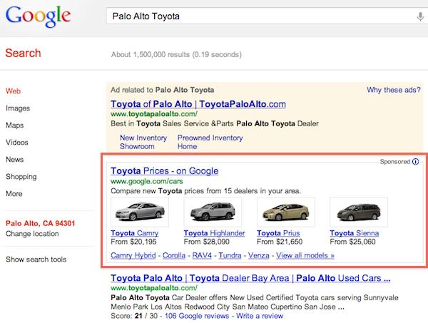google-car-moteur-recherche
