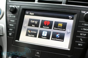 Entune par Bing pour Toyota