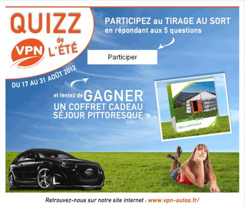 Quizz VPN Autos de l'été