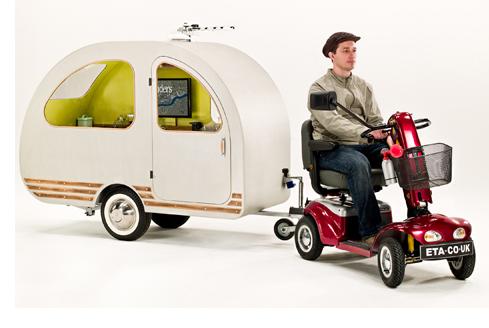 photo qt van petite caravane scooter écologie