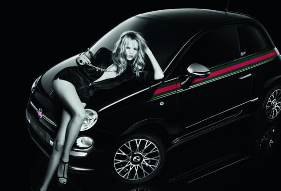 publicité pub fiat 500 avec top model russe