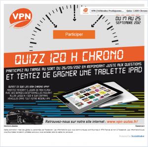 Gagnez un Ipad avec le quizz 120 chrono de VPN