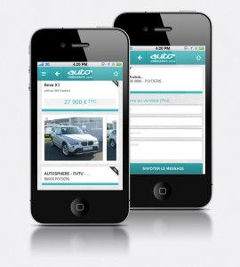 Site annonce auto version mobile