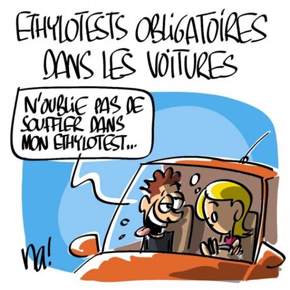 Thylotest obligatoire les pv repouss s pour le 1er mars - Dessin humoristique voiture ...