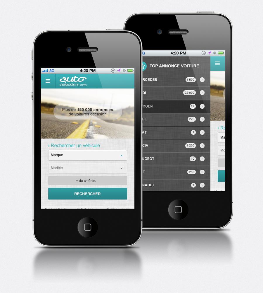 Site annonce auto version tablette