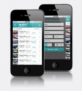 Site annonce auto version smartphone