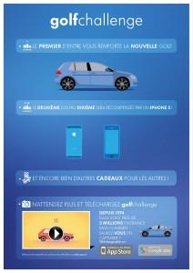Application Volkswagen golfchallenge golf 7 Iphone 5 à gagner
