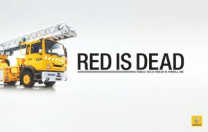 fire_truck renault f1 red is dead
