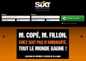 site sixt france cope fillon ump