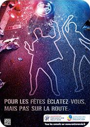 Affiche Sécurité routière réveillon