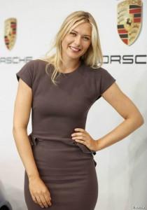 russian tennis player gagnante wimbledon Maria Sharapova ambassadrice de Porsche