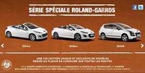 Peugeot séries spéciales Roland Garros 2013