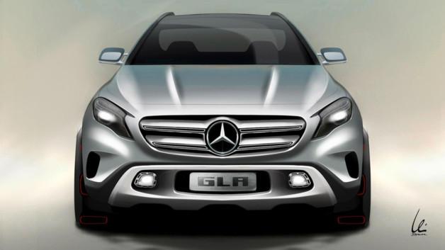 Mercedes SUV GLA concept 2013 teaser
