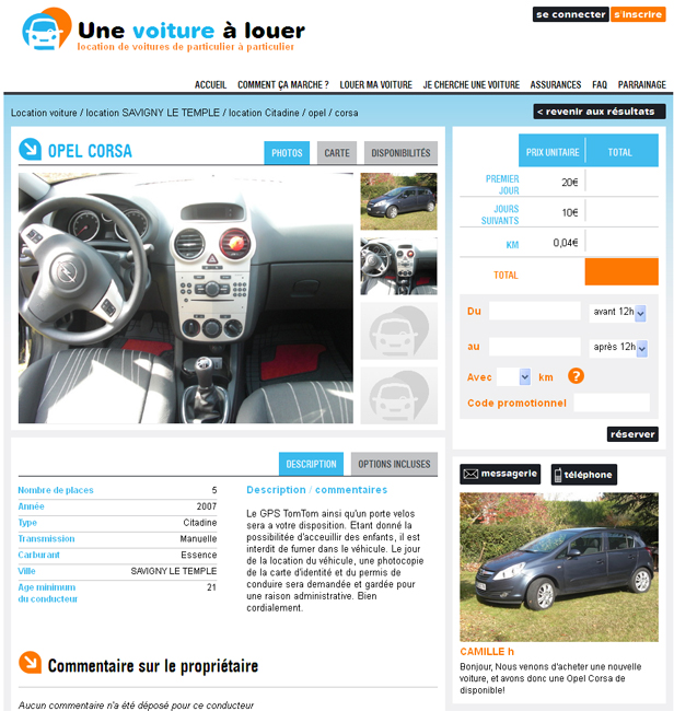 bilan du site site de location de voiture entre particuliers actu auto