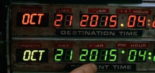 DeLorean : vue du compteur à la date anniversaire du 1er voyage