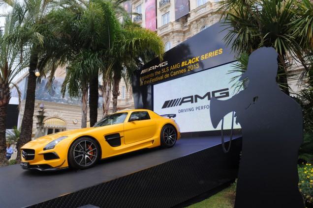 Mercedes SLS AMG Black Series au Festival de Cannes 2013