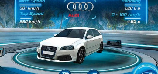 Magazine auto - jeu auto audi rs3 iphone