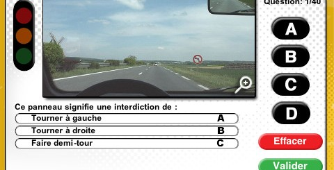 application iphone réussir code route