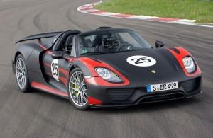 Porsche 918 Spyder prototype 2013 : 887 ch
