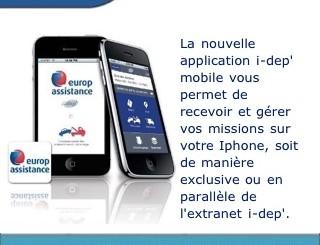 application iphone depannage
