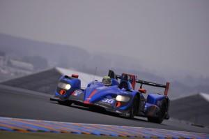 Alpine A450 aux Essais du 24 h du Mans 2013